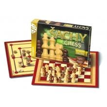 Hra stolná BONAPARTE Šach, dáma, mlyn