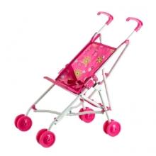 Kočík pre bábiky TEDDIES športový ružový