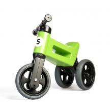 Odrážadlo TEDDIES FUNNY WHEELS 2v1 zeleno-čierne