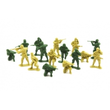 Sada vojakov TEDDIES ARMY II 2 farby CZ dizajn 18x19.5cm