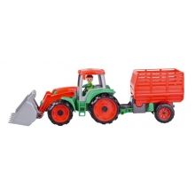 Detský traktor s prívesom LENA TRUXX 53cm
