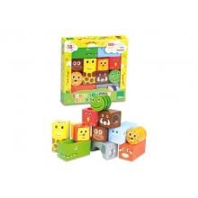 Detské drevené zvukové kocky VILAC Savana