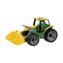 Traktor LENA s lyžicou 65cm zelený