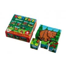 Kocky drevené TEDDIES Moje prvé zvieratká 9ks