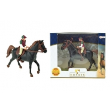 Detský kôň s džokejom TEDDIES 13cm