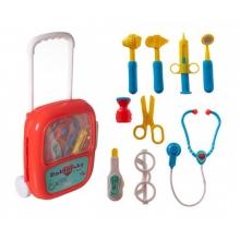 Detský doktor TEDDIES so stetoskopom v kufríku
