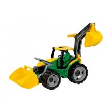 Traktor LENA s lyžicou a bagrom 65cm zelený